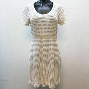 *Sparrow Anthropologie Cream & Tan Dress Large